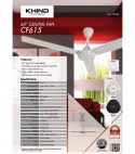 Khind Ceiling Fan CF615 Black
